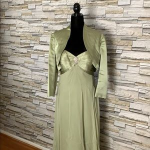 EUC Evening Gown in Light Green